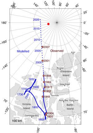 Чем ближе к полюсу, тем большим будет магнитный азимут направления на Полярную звезду.