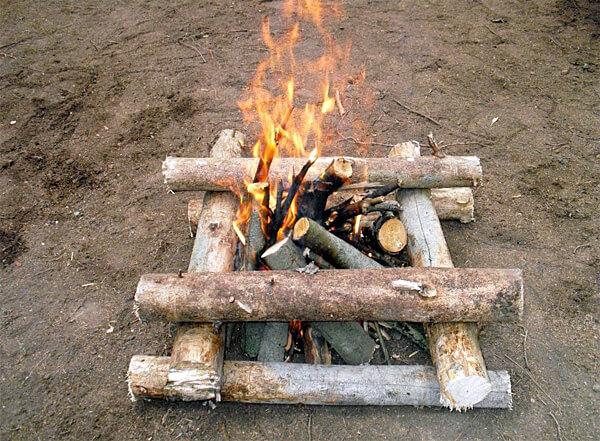 Колодец подходит для большинства ситуаций, в которых нужно согреться или приготовить пищу, но он же не подойдёт для зимней ночевки или приготовления пищи на сильном ветру.