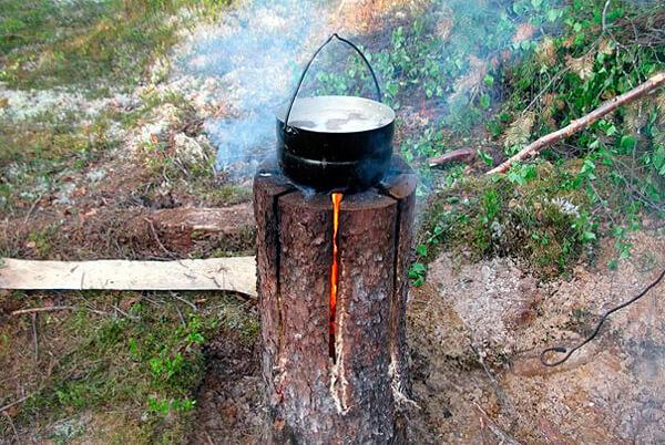 Типичная финская свеча в рабочем состоянии.