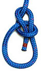 Обратите внимание, что ходовой конец веревки находится внутри петли, а не снаружи.