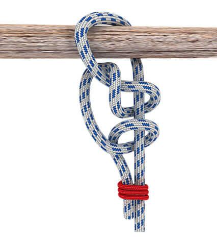 Не понятно, чем такой вариант лучше обычного штыка, но факт есть факт: этот узел был очень популярен у моряков.
