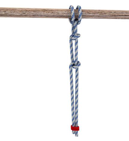 Вяжется этот узел сложнее простого штыка, но в итоге оказывается более надежным.