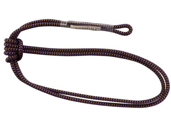Вариант такой ошибки: вязание прусика шнуром на теле самого шнура, пусть даже и сдвоенного.