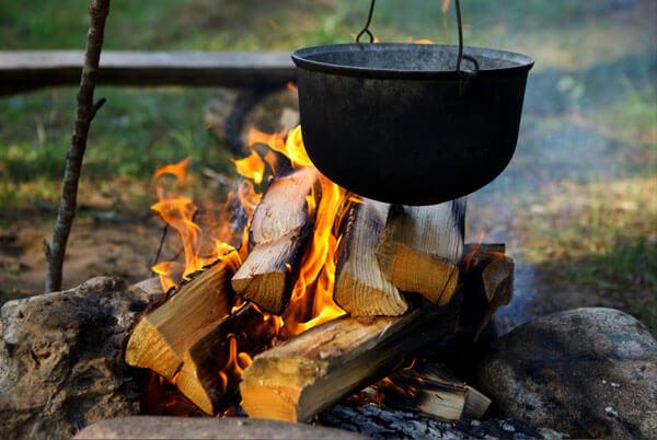 Способов приготовления пищи на костре множество, и для этой цели вовсе не обязательно использовать посуду.