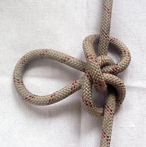 Главное достоинство этого узла - он не затягивается.